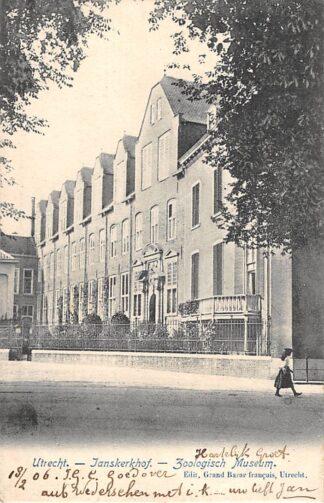 Ansichtkaart Utrecht Janskerkhof Zoölogisch Museum 1906 HC9026
