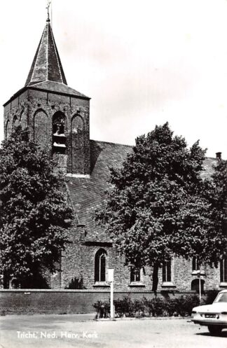 Ansichtkaart Tricht Ned. Hervormde Kerk Auto Geldermalsen HC9029
