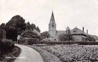 Ansichtkaart Almen Dorpsgezicht met kerk 1963 HC9053