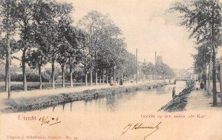 Ansichtkaart Utrecht Bleekerskade Gezicht op den molen de Kat 1904 HC9081
