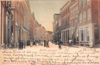 Ansichtkaart Zwolle Diezerstraat met volk 1904 HC9089