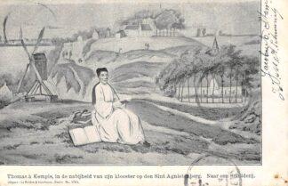 Ansichtkaart Zwolle Thomas a Kempis in de nabijheid van zijn klooster op den Sint Agnietenberg 1904 HC9090