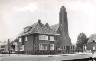 Ansichtkaart Waddinxveen Gereformeerde Kerk met Pastorie 1963 HC9098