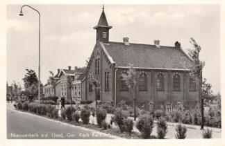Ansichtkaart Nieuwerkerk aan den IJssel Gereformeerde Kerk Kerklaan HC9099