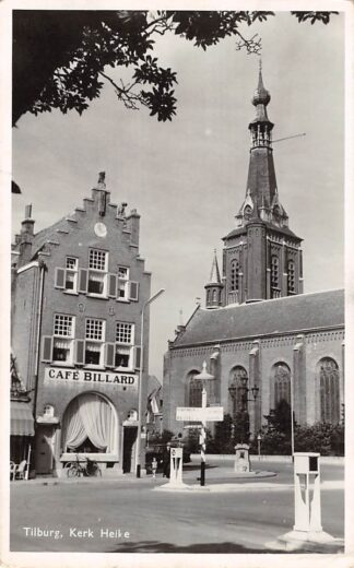 Ansichtkaart Tilburg Kerk Heike met Café Billard HC9107
