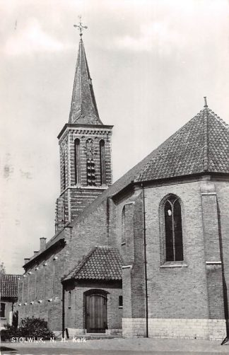 Ansichtkaart Stolwijk N.H. Kerk 1968 Krimpenerwaard HC9109
