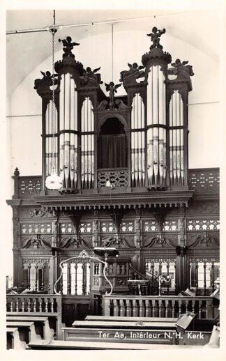 Ansichtkaart Ter Aa Interieur Ned. Hervormde Kerk met orgel 1955 HC9135