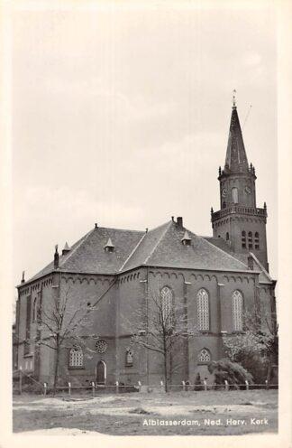 Ansichtkaart Alblasserdam Ned. Hervormde Kerk 1963 HC9136