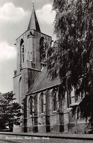 Ansichtkaart Bunschoten Ned. Hervormde Kerk 1964 HC9137