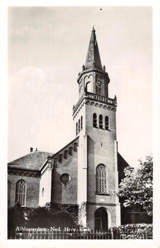 Ansichtkaart Alblasserdam Ned. Hervormde Kerk 1956 HC9140