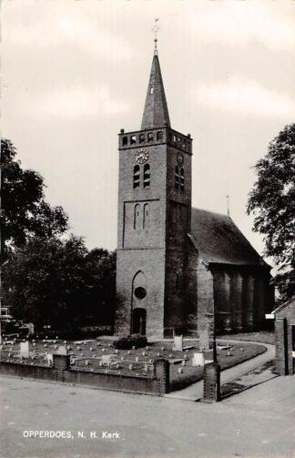 Ansichtkaart Opperdoes Ned. Hervormde Kerk met begraafplaats 1965 HC9145