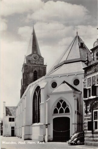 Ansichtkaart Woerden Ned. Hervormde Kerk Auto VW 1967 HC9150