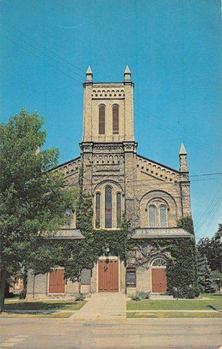 Ansichtkaart Canada Brantford Ontario First Baptist Church Kerk 1967 Noord-Amerika HC9154