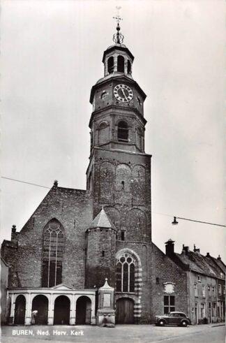Ansichtkaart Buren (GD) Ned. Hervormde Kerk Auto 1966 HC9155