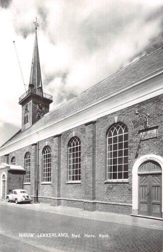 Ansichtkaart Nieuw Lekkerland Ned. Hervormde Kerk Auto 1966 HC9158