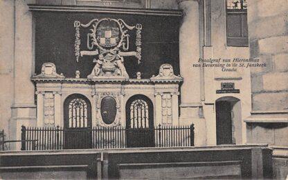 Ansichtkaart Gouda Praalgraf van Hieronimus van Beverningh in de St. Jans kerk Gompers 1930 HC9168