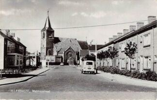 Ansichtkaart Hendrik Ido Ambacht Metmanstraat Auto Kerk 1965 HC9171