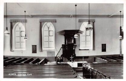 Ansichtkaart Almen Interieur Kerk met preekstoel 1965 HC9175