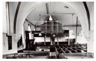 Ansichtkaart Almen Interieur Kerk en Orgel 1965 HC9176