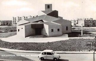 Ansichtkaart Alblasserdam Ned. Hervormde Kerk Maasstraat Auto 1965 HC9178