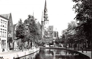 Ansichtkaart Gouda Gouwe met Katholieke Kerk Auto HC9192