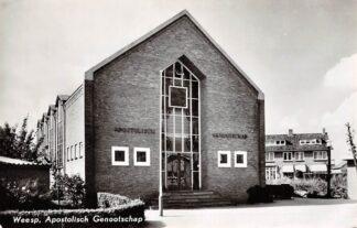 Ansichtkaart Weesp Kerk Apostolisch Genootschap 1963 HC9195