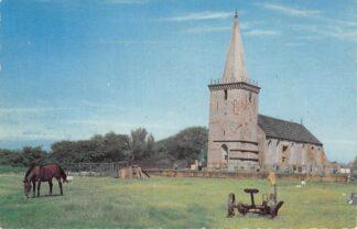 Ansichtkaart Den Hoorn Terschelling 13e eeuwse Kerk 1966 HC9207