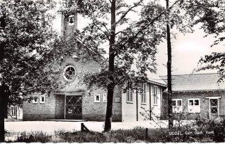 Ansichtkaart Uddel Kerk Gereformeerde Gemeente 1966 HC9217