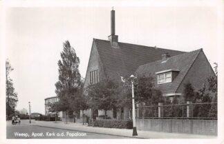 Ansichtkaart Weesp Apostolische Kerk aan de Papalaan 1950 HC9235