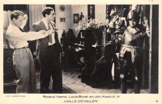 """Ansichtkaart Film Filmster Roland Verno Louis Borel en Joh. Kaart Jr. in """"Malle gevallen"""" Loet C. Barnstijn Film 4 HC9245"""