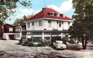Ansichtkaart Oisterwijk Gemullehoekenweg Auto Hotel Café Restaurant Bosrand 1964 HC9257