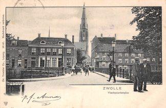 Ansichtkaart Zwolle Vischpoortenplas 1903 HC9259