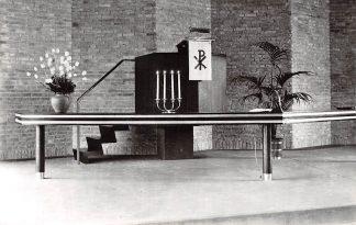 Ansichtkaart Gouda Interieur Pauluskerk Preekstoel Ned. Hervormde Kerk 1967 HC9261
