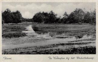 Ansichtkaart Diever De Waterplas bij het Studentenkamp 1937 HC9283