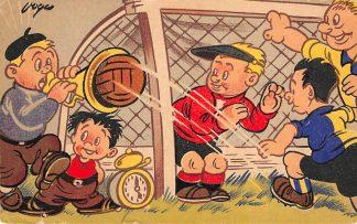 Ansichtkaart Voetbal Illustrator Carol Voges 1948 HC9303