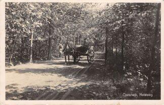 Ansichtkaart Oisterwijk Heisteeg met paard en wagen 1942 Type fotokaart HC9312
