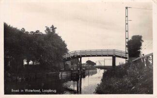 Ansichtkaart Broek in waterland loopbrug Type fotokaart 1944 HC9316