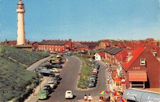 Ansichtkaart Egmond aan Zee Binnen Boulevard Auto Vuurtoren VW 1969 HC9317