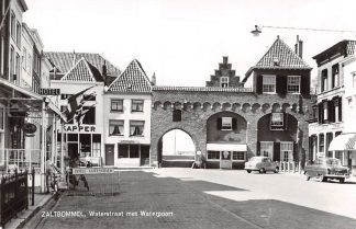 Ansichtkaart Zaltbommel Waterstraat met Waterpoort Auto HC9360