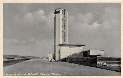 Ansichtkaart Wieringen 1932 Het monument op de Afsluitdijk Friesland Flevoland IJsselmeer HC9367