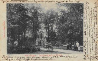 Ansichtkaart Gouda Van Bergen IJzendoorn monument in het Houtmansplantsoen 1900 HC9395