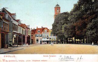 Ansichtkaart Zwolle Groote Kerkplein 1903 HC9400