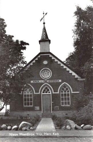 Ansichtkaart Nieuw Weerdinge Emmen Vrijzinnig Hervormde Kerk 1968 Drenthe HC9444