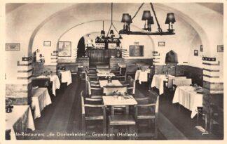 Ansichtkaart Groningen Café - Restaurant de Doelenkelder 1942 HC9527