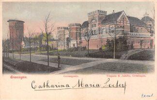 Ansichtkaart Groningen Gevangenis en Watertoren 1903 HC9544