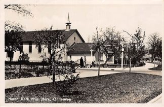 Ansichtkaart Haren Kerk Vrijzinnige Gemeente Onnerweg 1949 HC9555