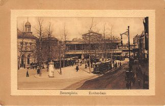 Ansichtkaart Rotterdam Beursplein met trams tram 1914 HC9560