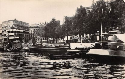 Ansichtkaart Rotterdam Oude Haven Binnenvaart schepen Elisabeth Vreeswijk Scheepvaart HC9561