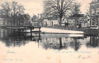 Ansichtkaart Gouda Gouwe met gezicht op den Kattensingel 1903 Vivat No. 2745 HC9585