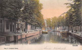 Ansichtkaart Gouda Gouwe Prachtig ingekleurde kaart Gompers 1905 HC9586